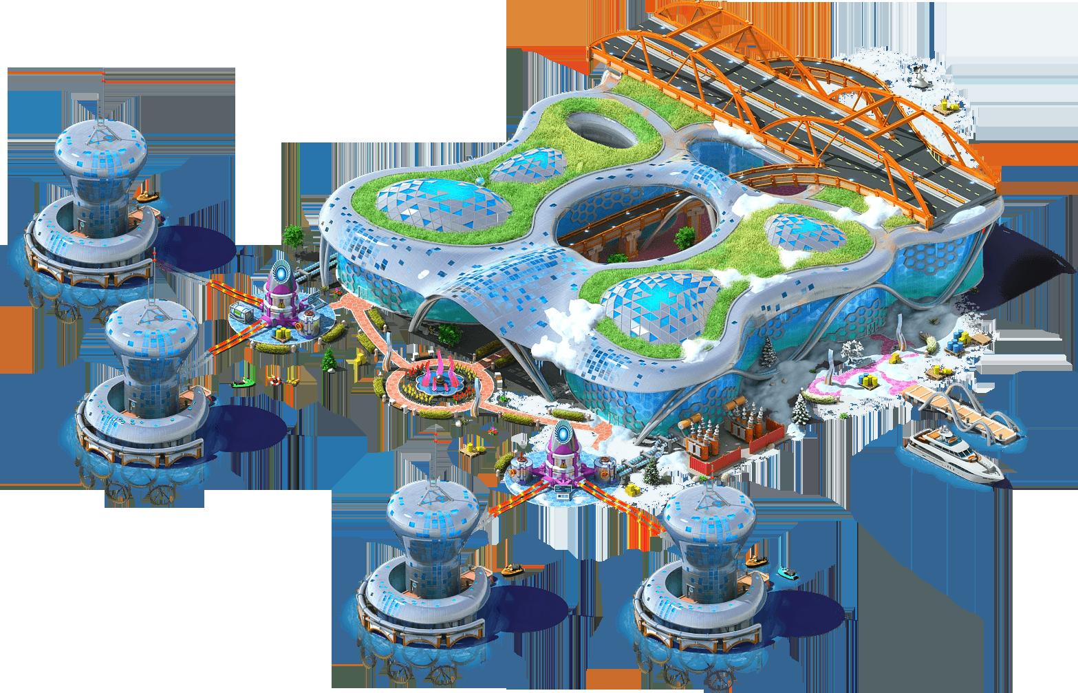 Construction clipart industrial plant. Tidal power megapolis wiki