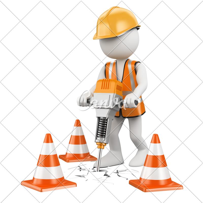 Construction clipart laborer.  d white people