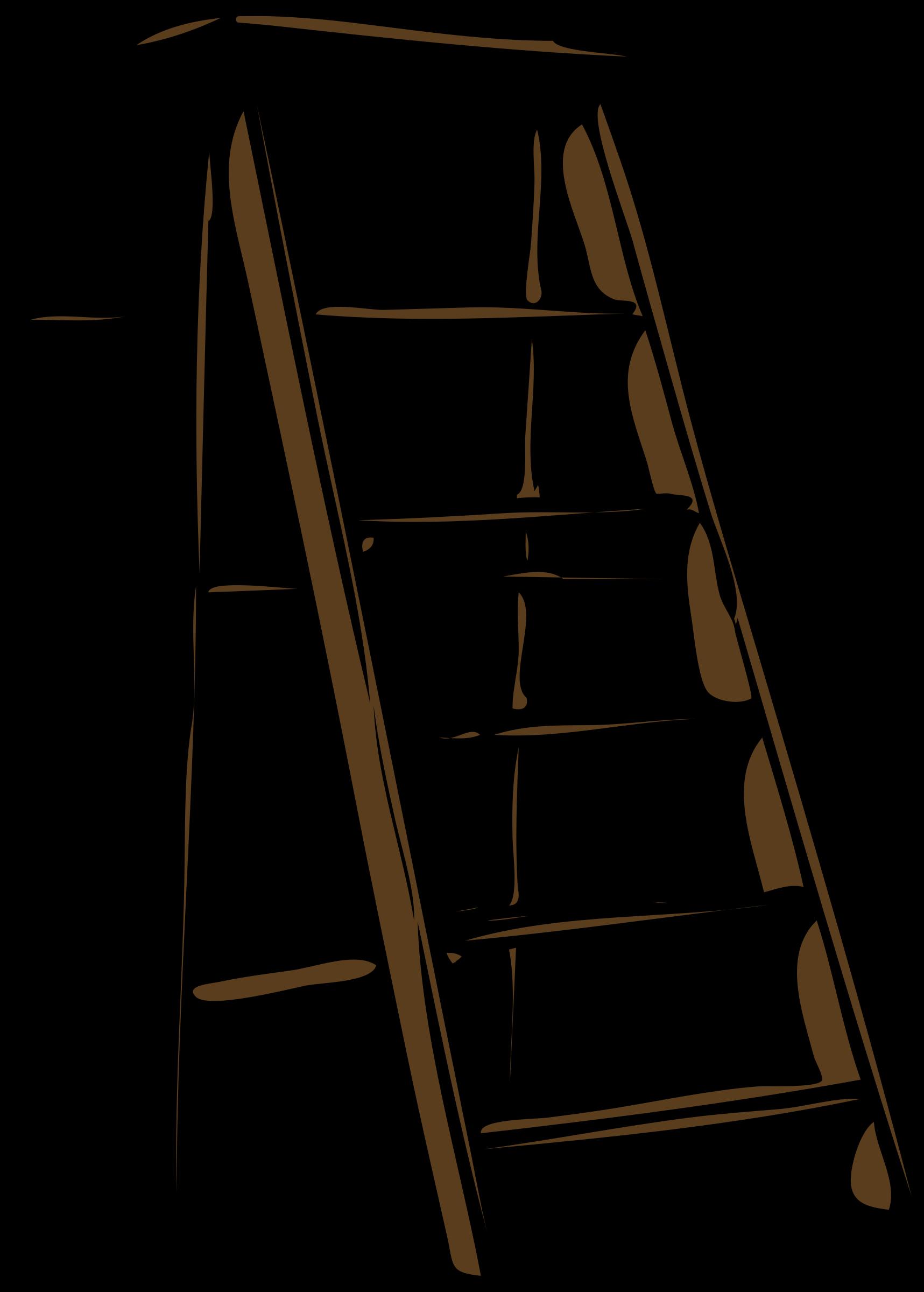 Rchitetto scala doppia big. Ladder clipart step stool