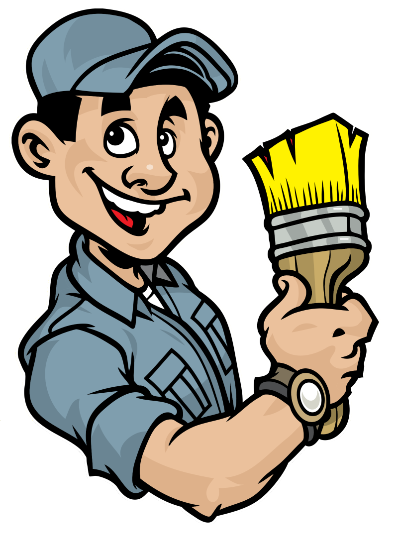 Grade a painting painters. Working clipart painter