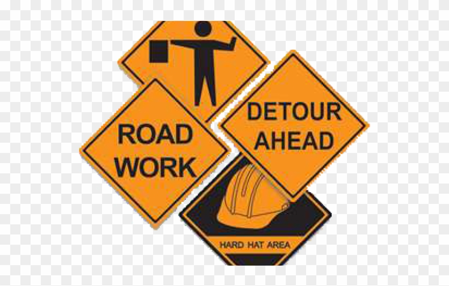 Construction sign png . Working clipart public work