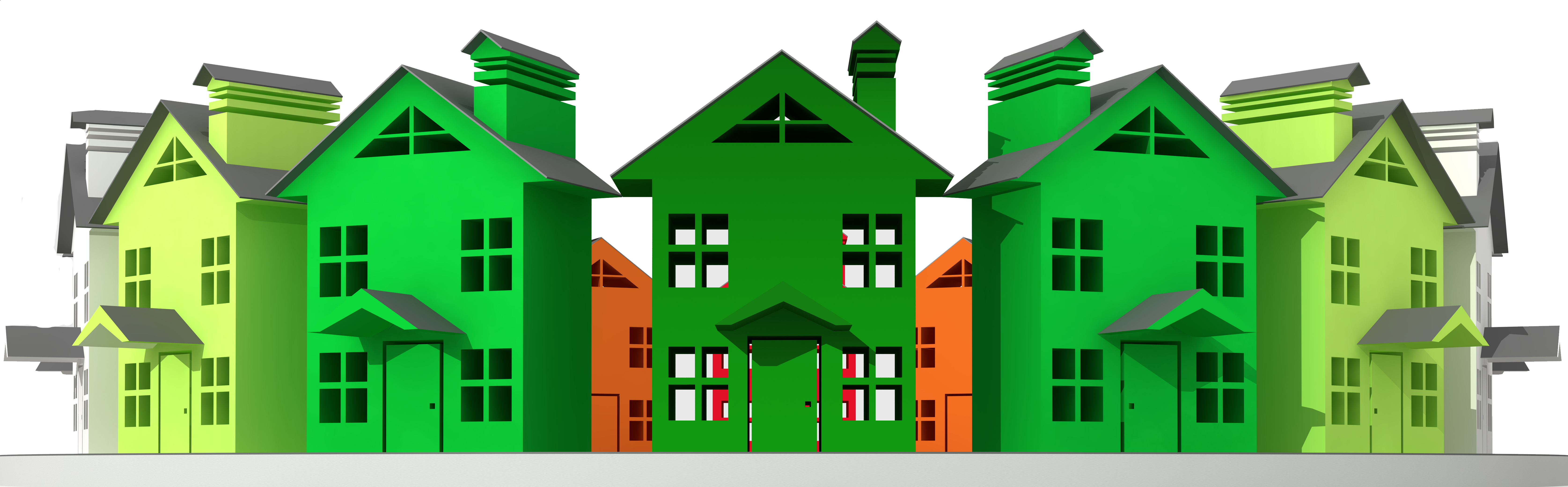 Multi construction request multifamily. House clipart family