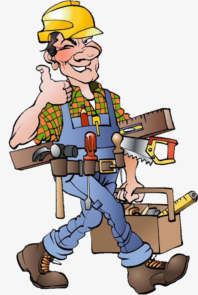 Construction worker surveying . Contractor clipart builder