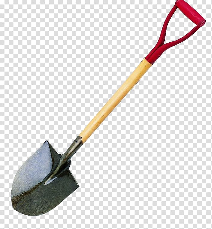 Black and brown tool. Construction clipart shovel