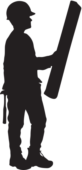 Worker clip art library. Construction clipart silhouette