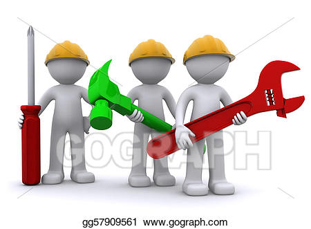 Teamwork clipart construction. Team of worker with