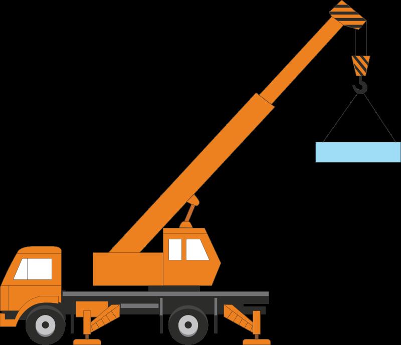 Construction clipart transparent background. Hook crane machine free