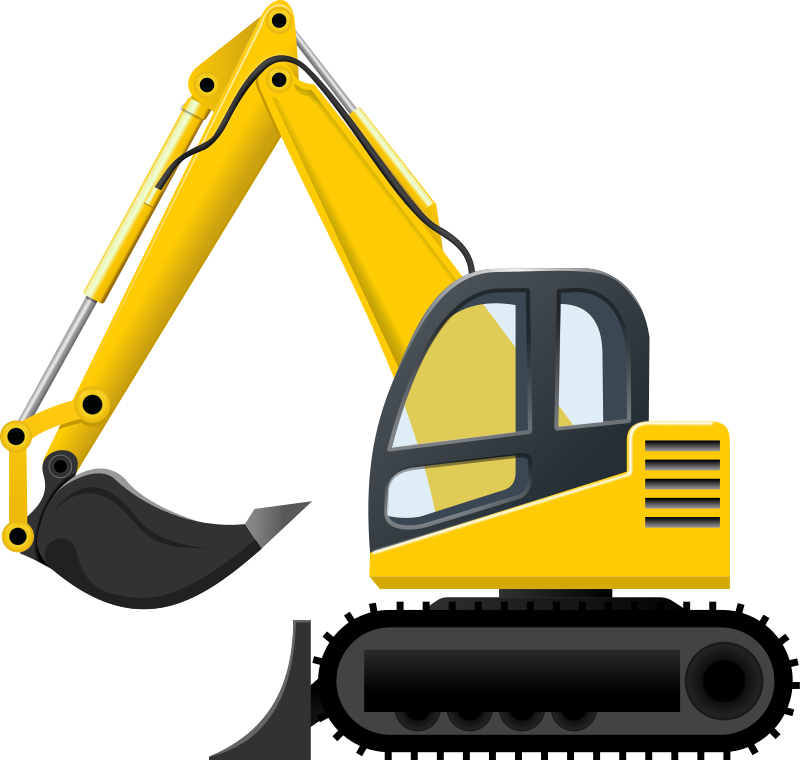 collection of construction. Excavator clipart sketch