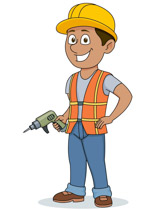 Free construction clip art. Workers clipart