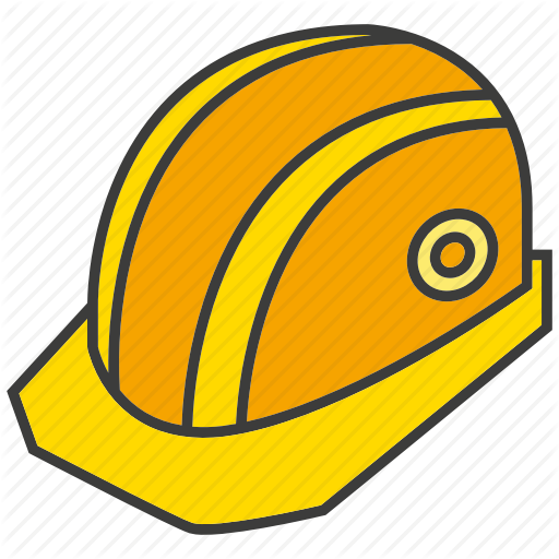 Project part by design. Construction helmet png