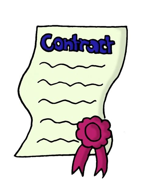 Draft . Contract clipart