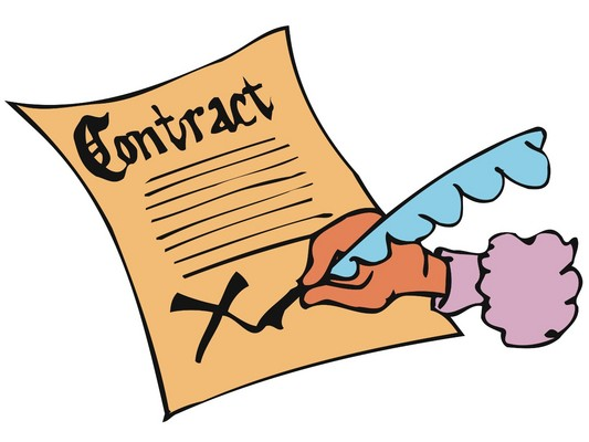 Sign . Contract clipart