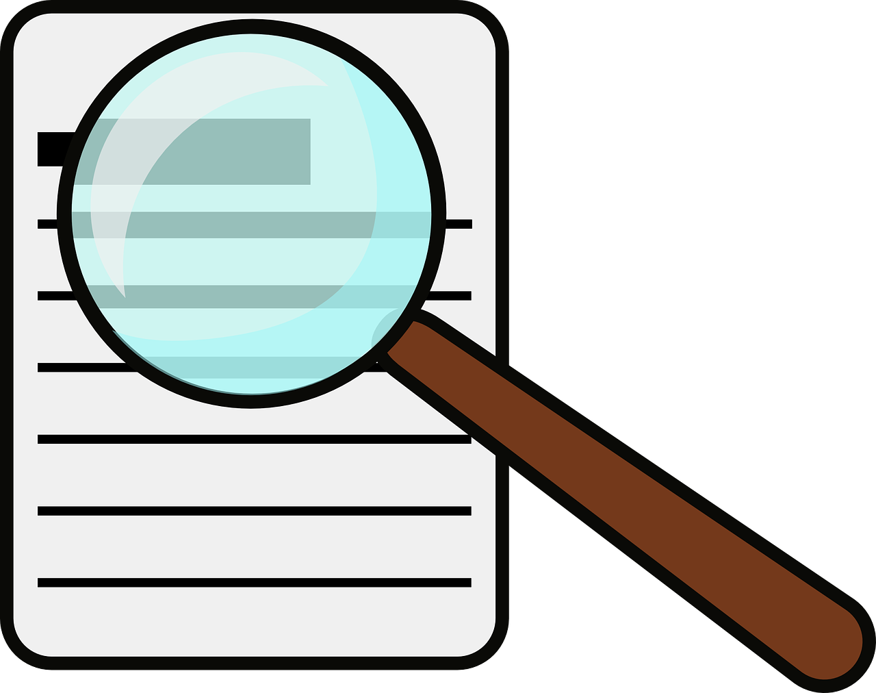 How secure is your. Evidence clipart magnifying glass