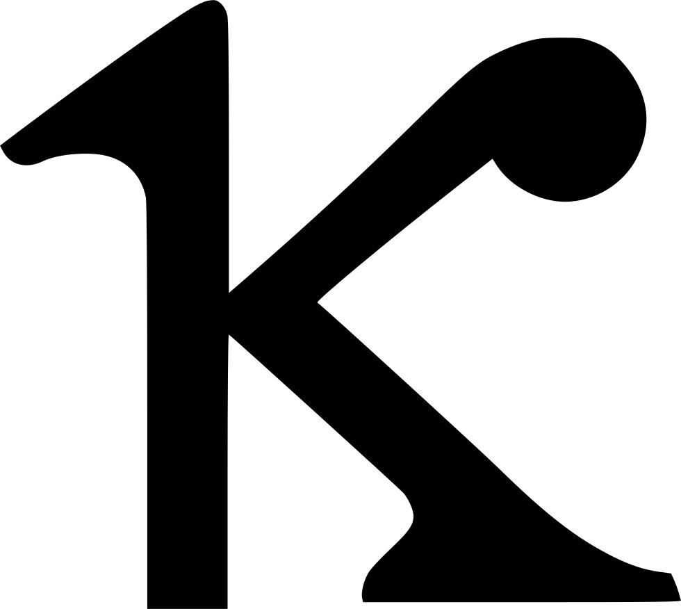 Geometry clipart math skill. Kappa greek alphabet svg