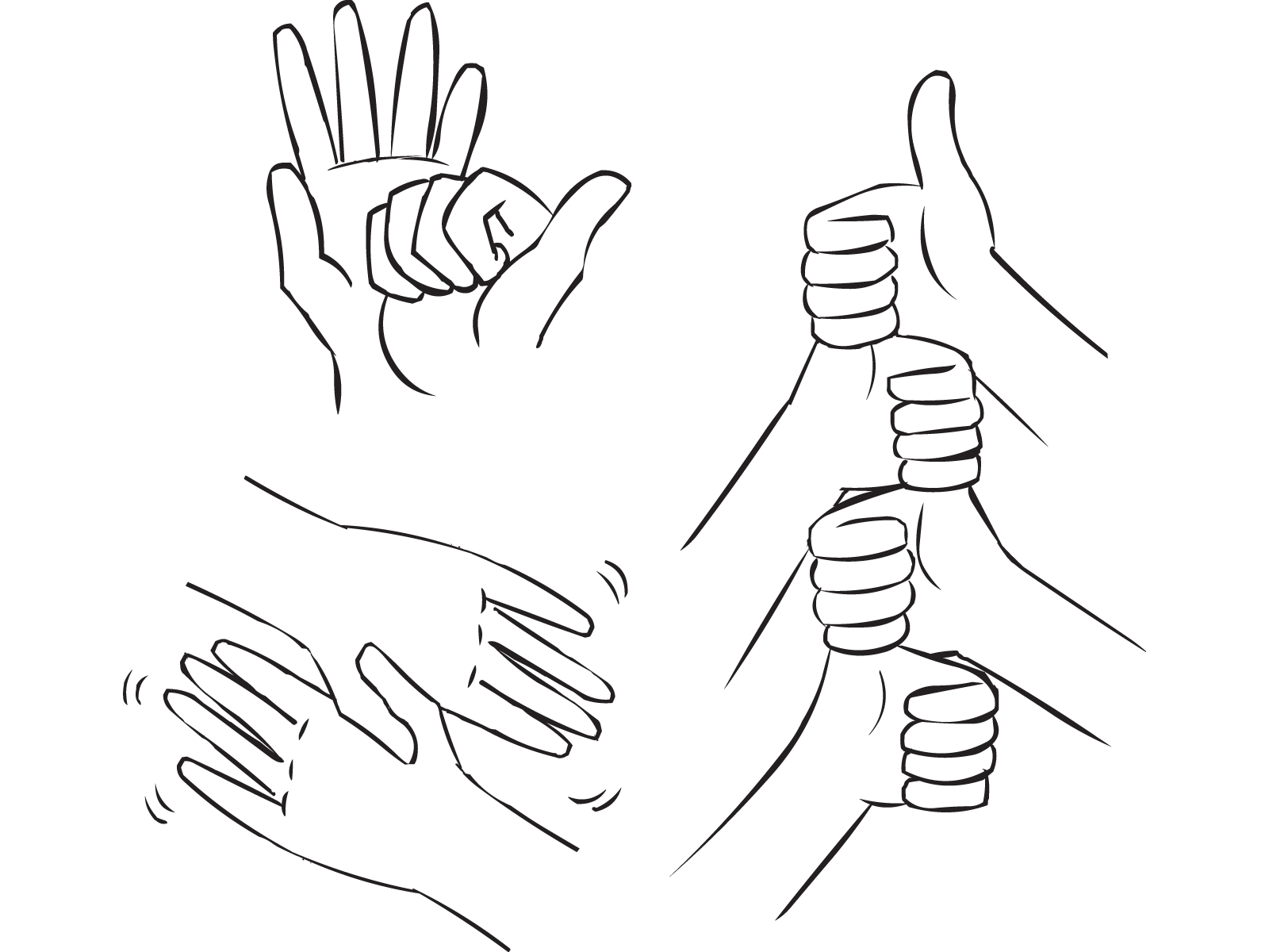 Thumb clipart sketch. Handshake drawing at getdrawings