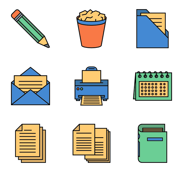 Essay clipart executive order. Document icons free vector