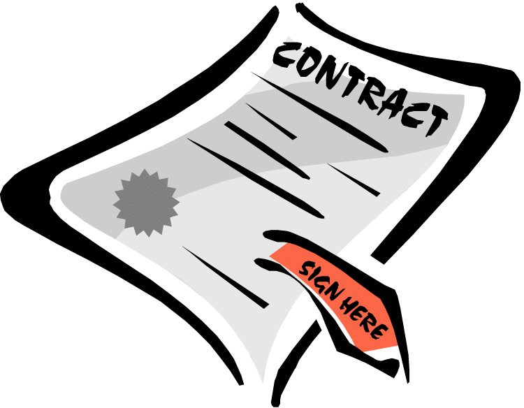 ways to get. Contract clipart employee contract