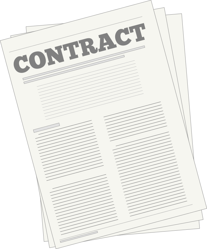 Australian employment agreement template. Contract clipart employee contract