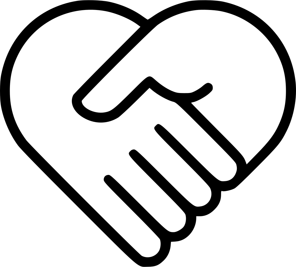 Medicine heart health care. Contract clipart handshake