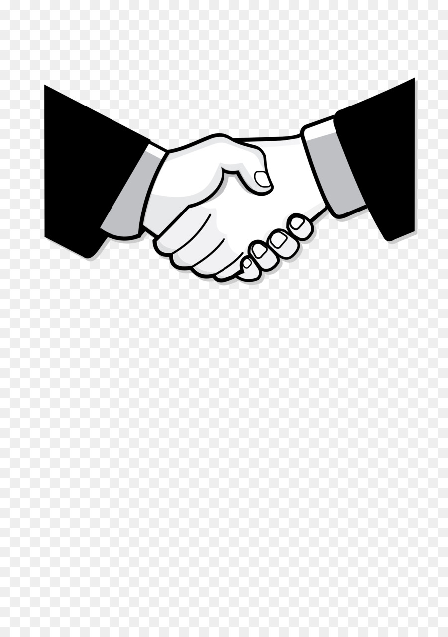 Contract clipart handshake. Hand cartoon necktie transparent