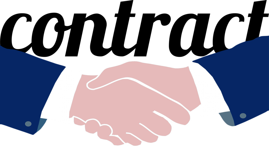 Logo hand communication . Contract clipart handshake
