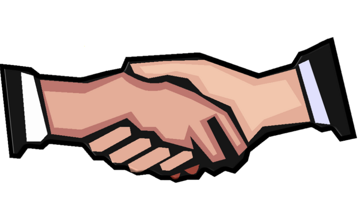 Contract research firm quintiles. Handshake clipart shareholder