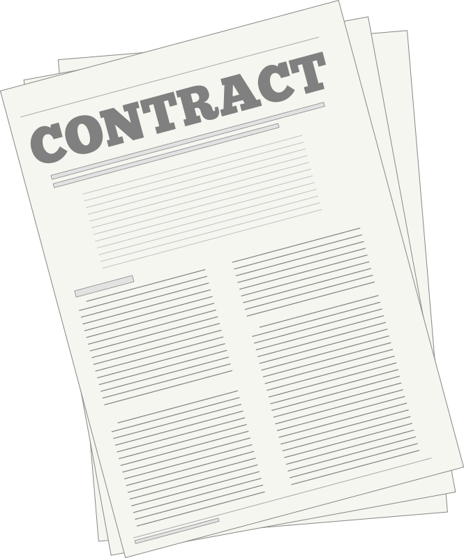 Australian employment agreement template. Contract clipart learning