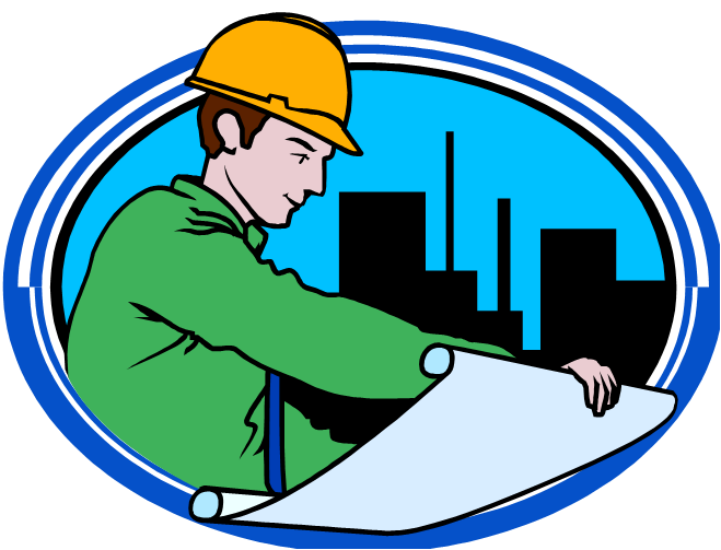 Engineer clipart work clipart. General contractor civil engineering