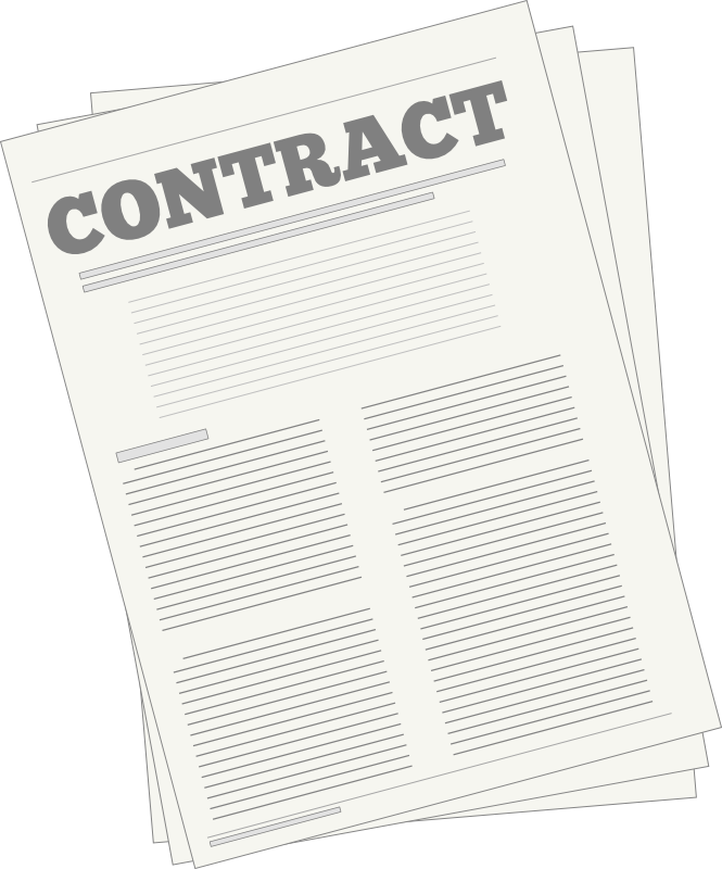 Contractor clipart transparent. Contracts institute for academic