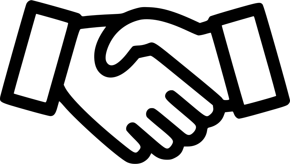 Handshake clipart new deal. Business contract sign svg