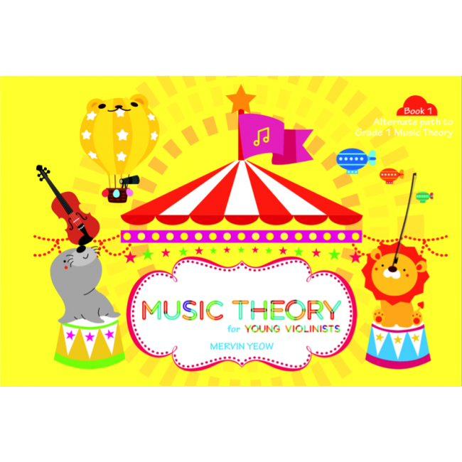 For young violinist book. Musical clipart music theory