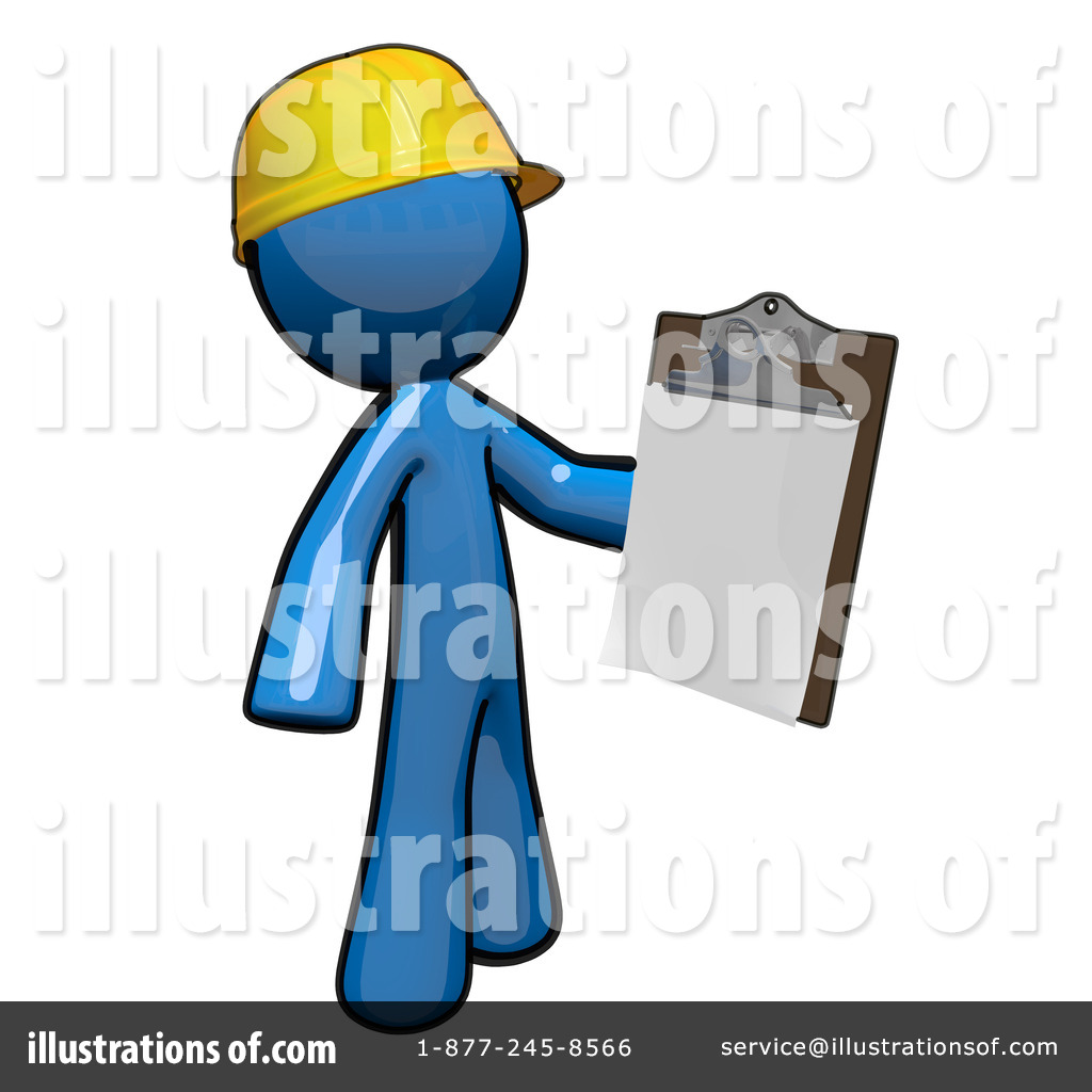 Contractor clipart. Illustration by leo blanchette