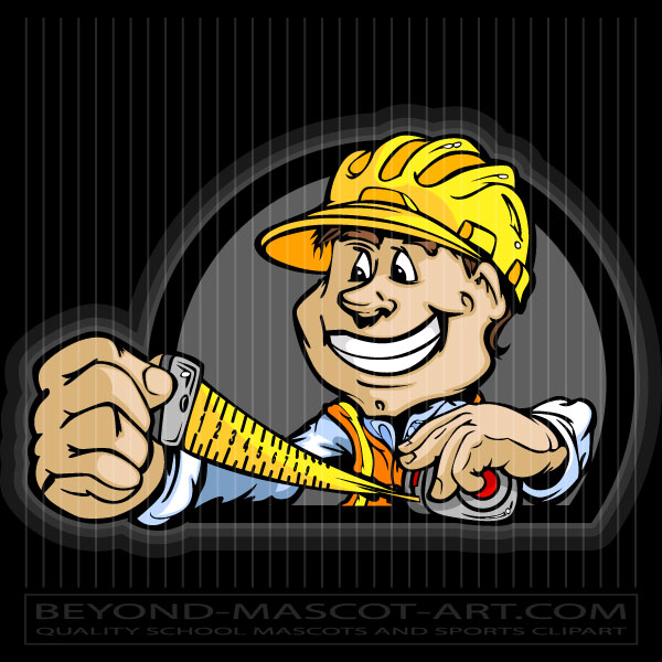 Contractor clipart. Clip art cartoon vector