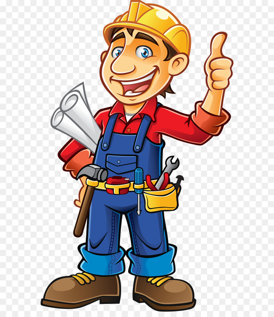 Cartoon construction hand transparent. Contractor clipart boy
