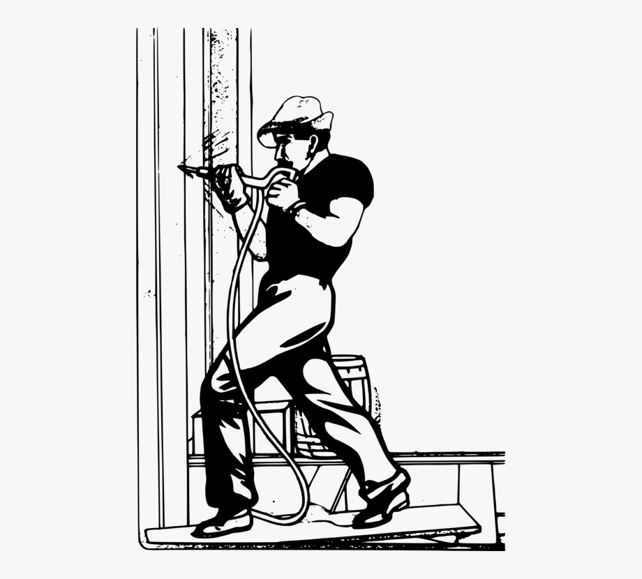Black and white laborer. Engineering clipart architectural engineering