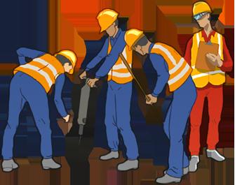 Kakkad builders . Contractor clipart construction team