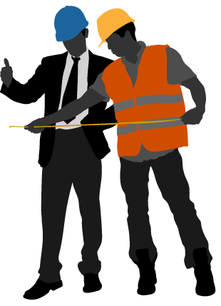 Clip art silhouttes of. Contractor clipart constuction