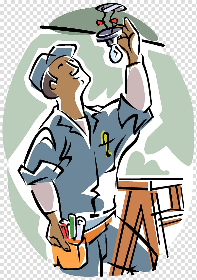 Electrician electricity architectural engineering. Contractor clipart electrical contractor