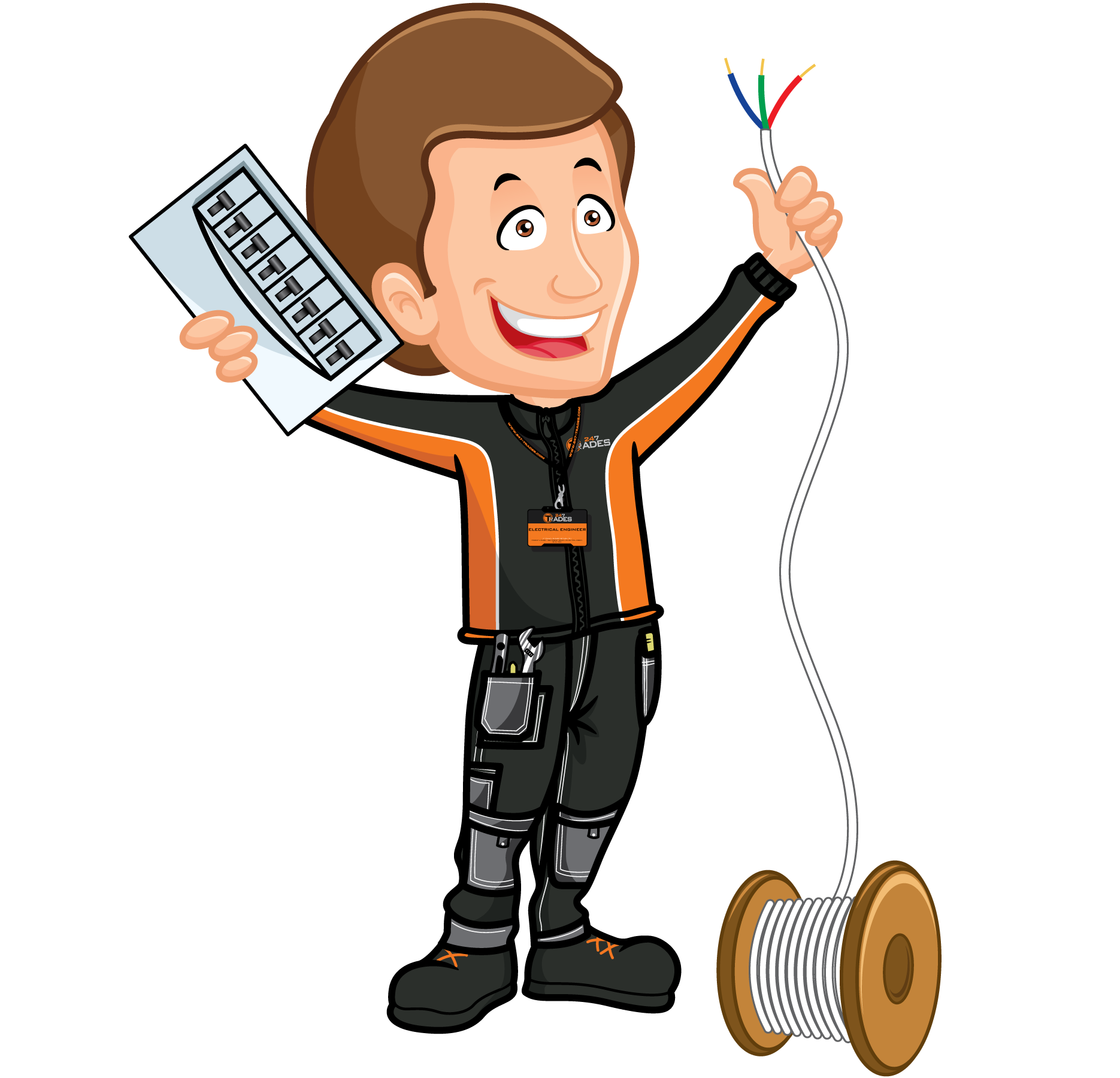 Electrical services trades offers. Engineering clipart electronic engineering