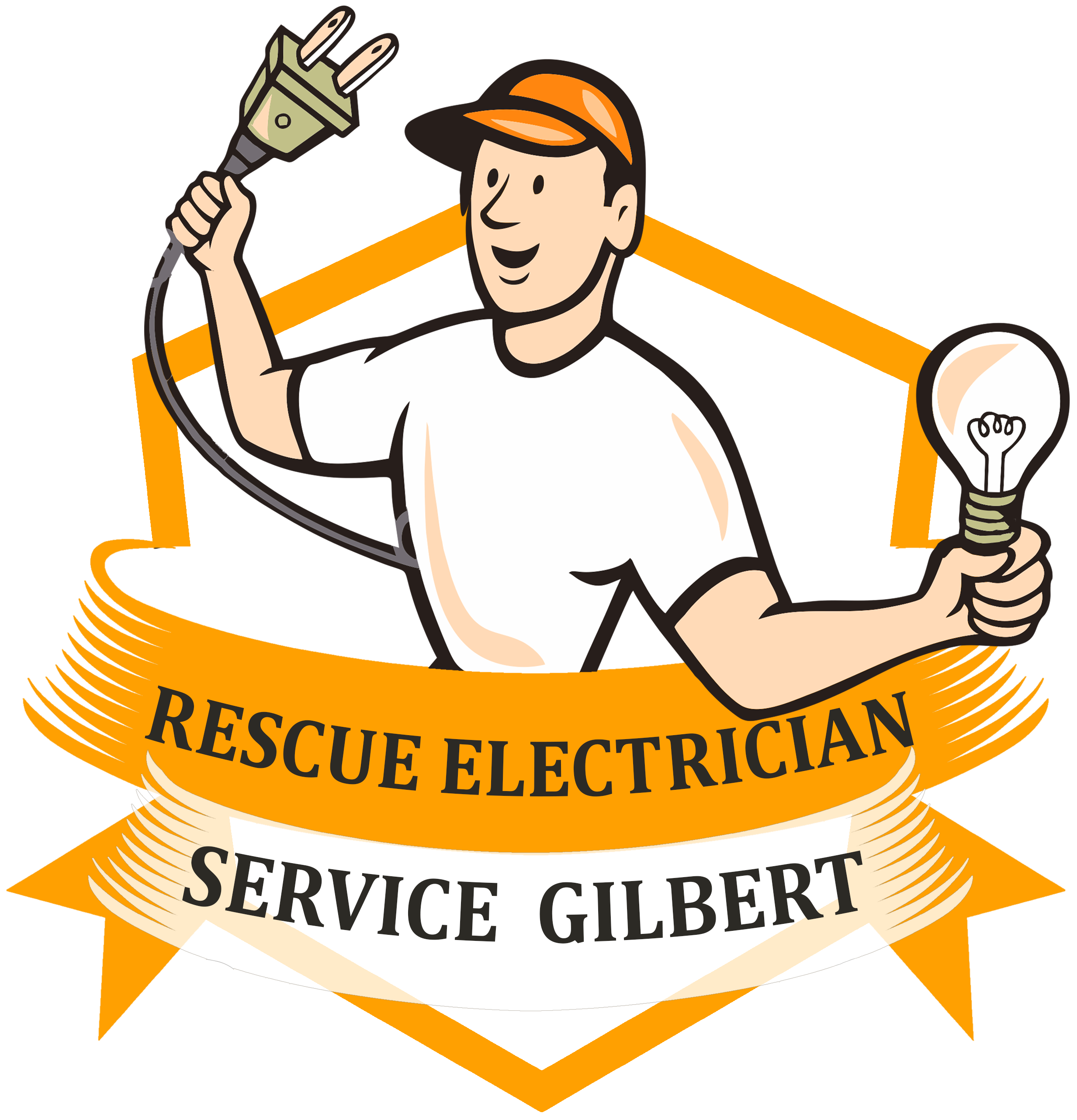 Gilbert is a family. Contractor clipart electrician
