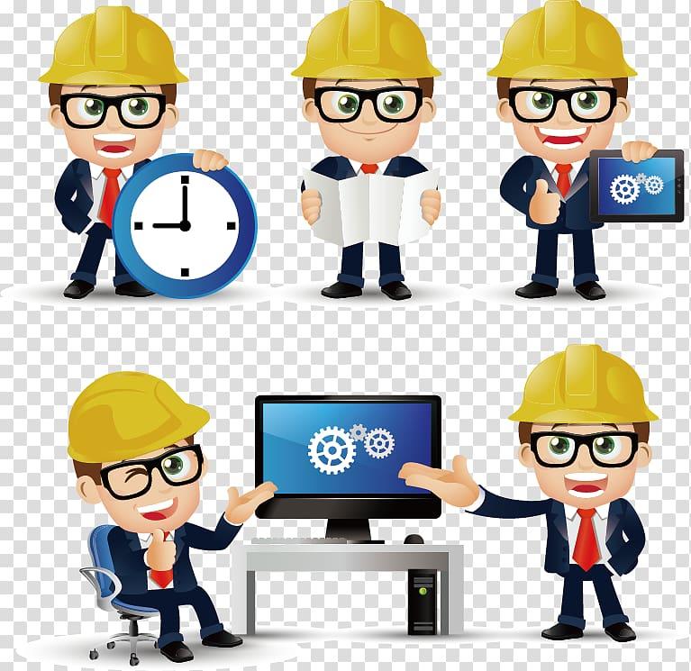 Illustration civil engineering construction. Engineer clipart engineer job