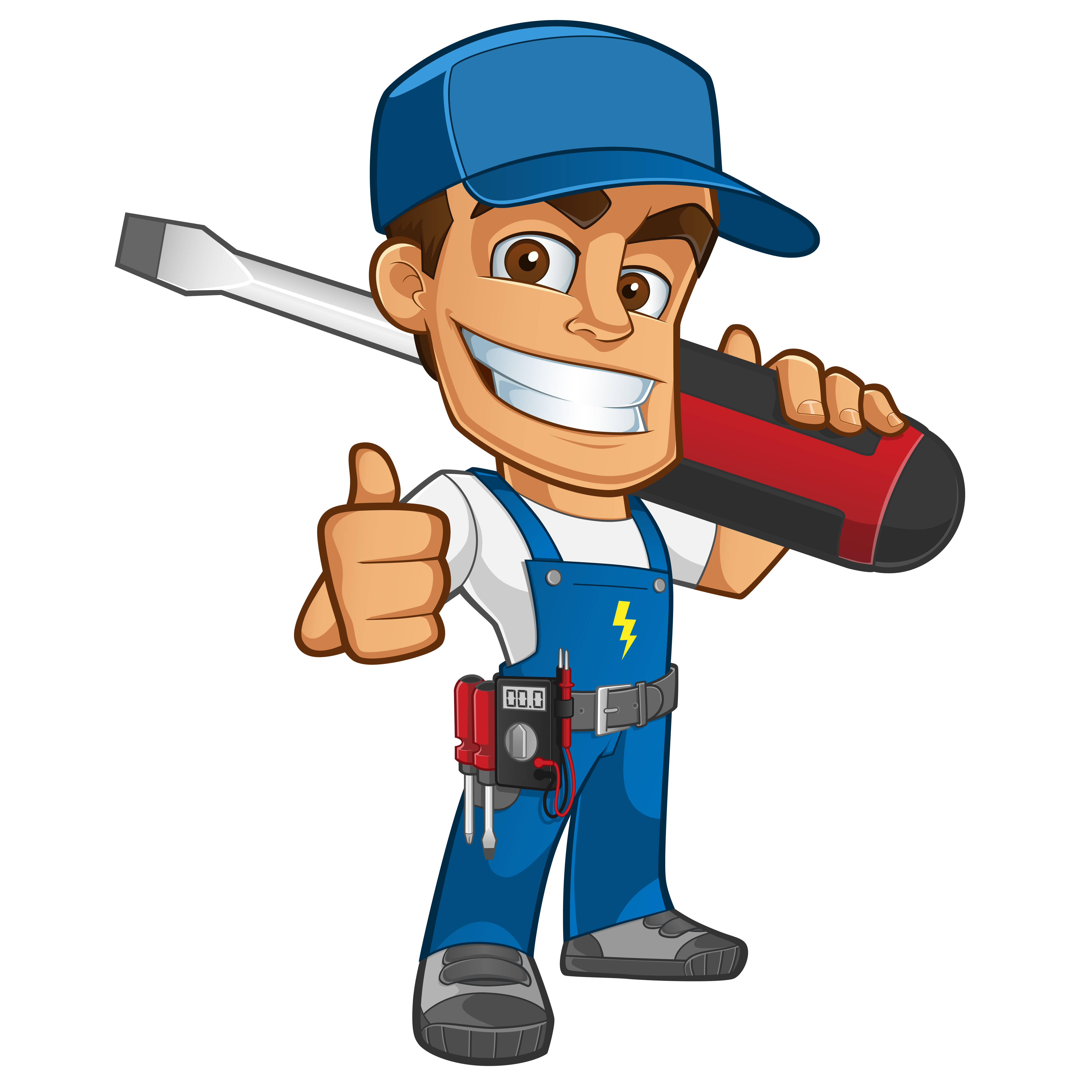 Contractor clipart factory worker. Electrical daily maintenance sb