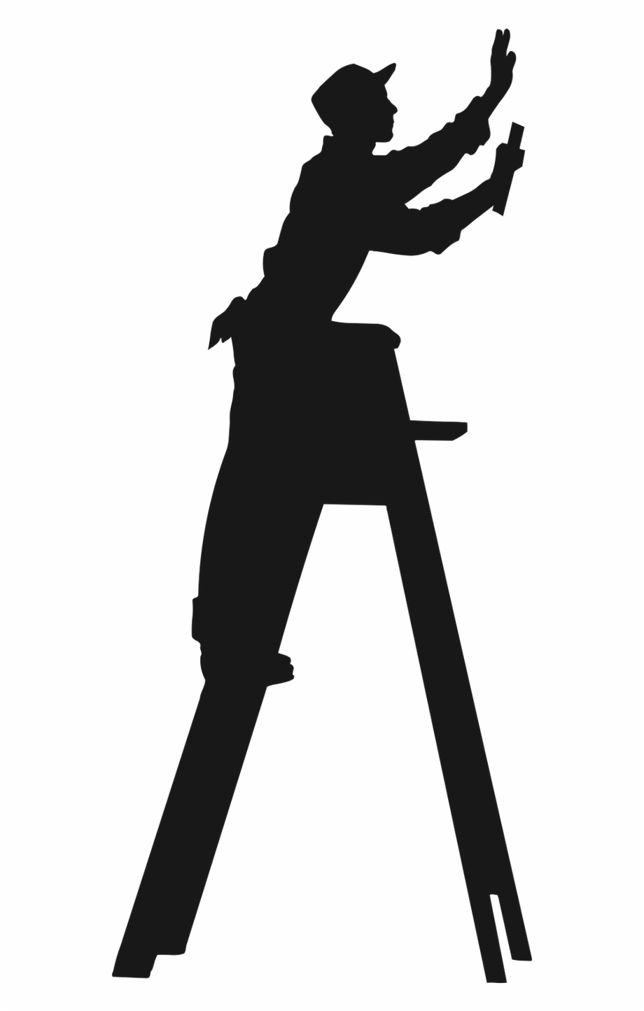 Residential bellaire silhouette . Contractor clipart handyman