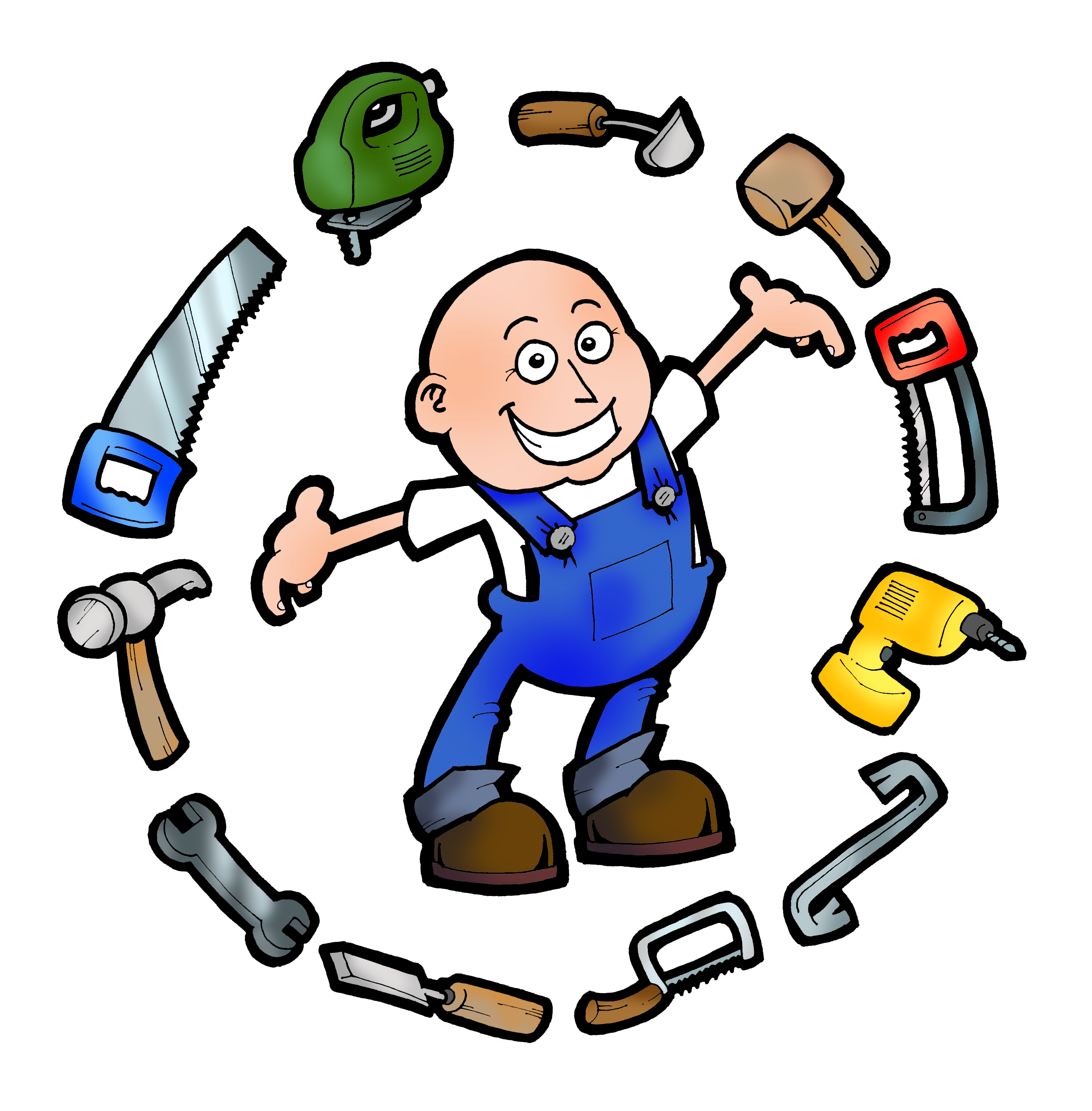 Free logos image group. Contractor clipart handyman