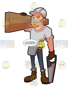 A male construction worker. Contractor clipart hispanic man