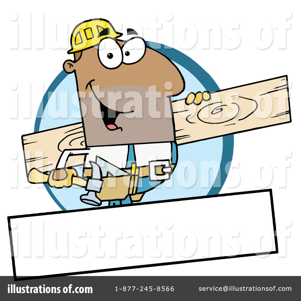 Contractor clipart hispanic man. Construction illustration by hit