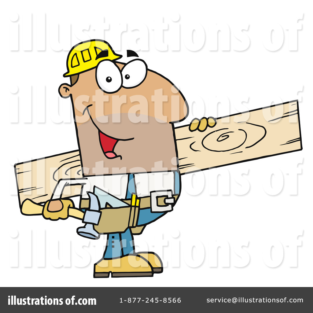 Construction illustration by hit. Contractor clipart hispanic man