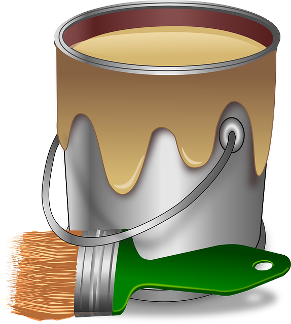 Painting trim can bring. Contractor clipart house paint