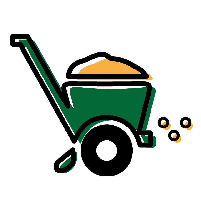Total lawn care landscape. Working clipart yard work