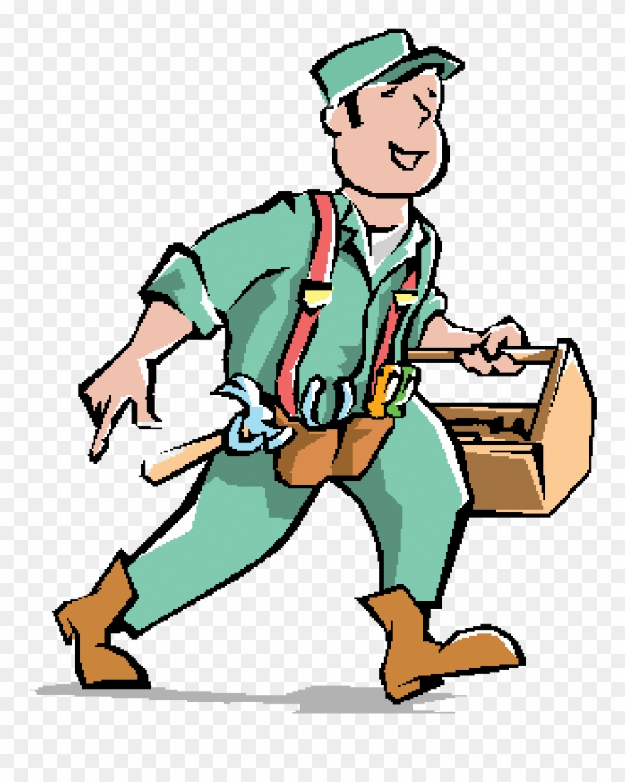 Handyman clipart pool maintenance. General crew in a